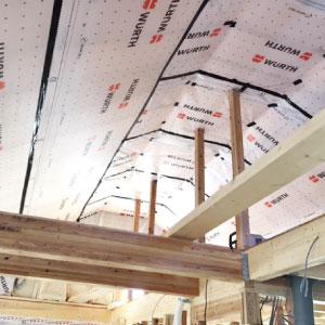 屋根の断熱には『ウールブレス 240mm+EPS40mm』