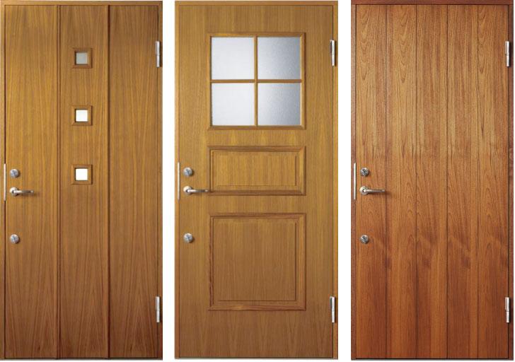 木質系玄関ドア